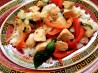 Spicy Chicken With Peppers and Basil. Recipe by ElleFirebrand