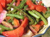 Grilled Green Bean Salad With Red Onions and Tomatoes. Recipe by lazyme