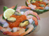 Seafood Salad Martini With Vodka Habanero Dressing. Recipe by NurseJaney