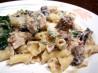 Chicken & Campanelle Pasta With Roasted Garlic Cream