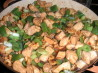 Chicken With Walnuts, Bell Peppers (Capsicum) and Green Onions