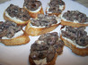 Brandy Creamed Mushrooms on Herby Cheese Toast. Recipe by French Tart