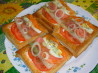 Rainbow Smoked Salmon Salad in Puff Pastry. Recipe by twissis