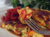 Roast Pepper Polenta Cakes. Recipe by PinkCherryBlossom