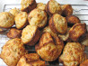 Savory Cheese, Cranberry and Herb Mini Muffins. Recipe by SusieQusie