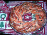 Cranberry-Almond Holiday Wreath Bread. Recipe by Sharlene~W