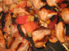 Glazed Apple Pork Kabobs. Recipe by Rita~