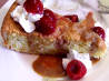 Pine Nut Cake With Poached Cherries and Caramel Sauce. Recipe by Rita~