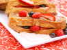 Berry-Stuffed French Toast With Vanilla Yogurt Sauce. Recipe by DrGaellon