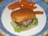 Grilled Portabella Burger With Basil Mayonnaise. Recipe by Vegetarian Network Austin
