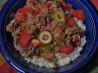 Quinoa Beef Picadillo