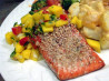 Baked Salmon With Mango Salsa. Recipe by baezus