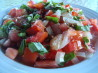 Grilled Red Pepper, Sweet Onion, and Tomato Salad. Recipe by Dr. Jenny