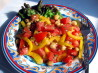 Tomato and Garbanzo Salad. Recipe by BayLeigh Ann