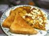 Bacon & Blue Cheese Omelette (Bleu Cheese Omelet). Recipe by Marg (CaymanDesigns)