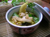 Chiang Mai Curried Noodle and Chicken Soup (Kao Soi Gai). Recipe by Leggy Peggy