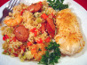 Chicken, Shrimp and Andouille Jambalaya. Recipe by Sue Lau