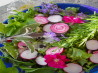 Elizabethan English Herb and Flower Salad With Honey Dressing. Recipe by French Tart