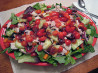 Tossed Green Salad W. Chicken and Raspberry Chipotle Vinaigrette. Recipe by 1Steve