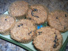 Super-Low-Fat, Lower Carb, Vegan Apple-Raisin Wheat Bran Muffins. Recipe by One Happy Woman
