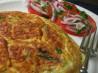Asparagus & Fontina Frittata W/Sliced Tomato & Red Onion. Recipe by JackieOhNo!
