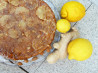 Lemon Ginger Almond Upside-Down Cake. Recipe by Sydney Mike