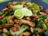 Spicy Stir Fried Chicken With Greens and Peanuts. Recipe by cookiedog