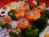 Greek Salmon and Seafood Skewers. Recipe by Boomette