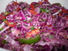 Jicama Cilantro Red Cabbage Slaw. Recipe by Rita~