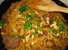 Beef Pad Thai With Peanut Sauce & Asian Noodles