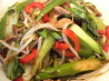 Stir Fried Pork With Bok Choy and Noodles. Recipe by The Flying Chef