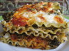 Pesto Artichoke Spinach Lasagna. Recipe by Nimita Patel