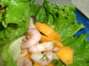 Papaya Shrimp Lettuce Wraps. Recipe by Julesong