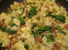 Spinach, Bacon and Pine Nut Pasta. Recipe by Donnee