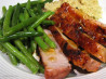 Grilled Spiced Pork, Orange-Lime Glaze & Sugar-Snap Peas Ww. Recipe by KateL