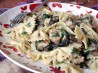 Creamy Pasta With Mushrooms, Spinach, and Peas. Recipe by Chef #968854