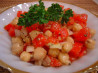 Tomato, Vidalia Onion, & Chickpea Salad. Recipe by Sue Lau