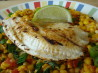 Cumin Fish & Roasted Corn Salsa (21 Day Wonder Diet: Day 10). Recipe by Sara 76
