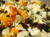 Couscous With Roast Pumpkin, Raisins and Almonds. Recipe by Kiwi Kathy