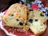 Blueberry Black Walnut Bread (Cake). Recipe by Acadia*