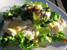 Spanish Tapas - Grilled Goat's Cheese on Bed of Lettuce. Recipe by Deantini