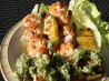 Grilled Coconut Shrimp Kabobs With Island Salsa. Recipe by BakinBaby
