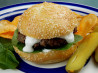 Pub Patties (Burgers) With Horseradish Sauce and Cress
