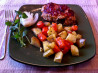 Turkey Mini-Meatloaves With Roasted Root Veggies. Recipe by Lady in love :)