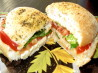 Perfect Summer Sandwich (Tomato, Basil, Cheese). Recipe by newmama