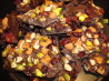 Chocolate Bark With Mixed Nuts and Dried Berries. Recipe by Wilson716