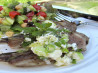 Oregano Lamb Steaks With Lemon, Olive Oil and Feta Cheese Mash