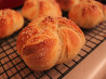 Parmesan Kaiser Rolls. Recipe by Katzen