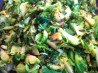 Shredded Brussels Sprouts & Scallions (Gourmet). Recipe by blucoat