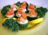 Little Smoked Salmon Cucumber Cups With Peppered Creme Fraiche